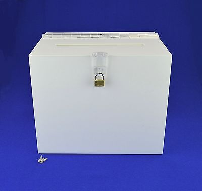 Suggestion Box / Collection Box Lockable - BB0005 White