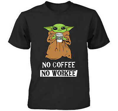 Baby Yoda Cute No Coffee No Workee Funny T Shirt Men's / Women's