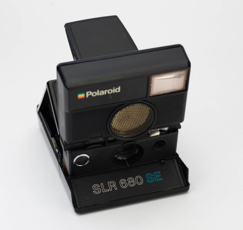 Polaroid SLR 680 SE Replacement Cover - Laser Cut Genuine Leather