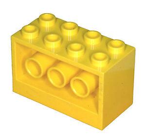 Missing-Lego-Brick-6061-Yellow-Brick-2-x-4-x-2-Holes-on-Sides-6180-6176-6199