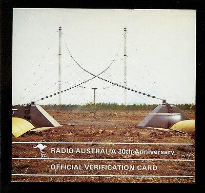 "QSL ""Radio Australia 30th Anniversary"" 9.58 Mcs Darwin Shortwave DX SWL 1971"