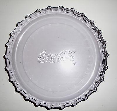 Coca Cola Teller Deckelform Glas Party Dekoteller Selten COCA COLA wie Neu