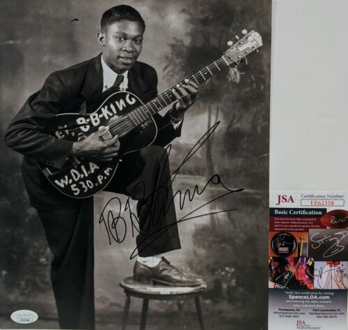 B.B. KING Signed Autograph 9.5X11.5 Photo Music BB King JSA