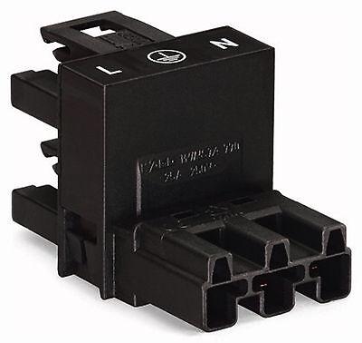 WAGO Winsta Verteiler 3-polig 770-636 schwarz 1x Buchse 2x Stecker