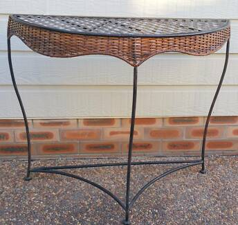 Side or Sofa Table Wrought Iron