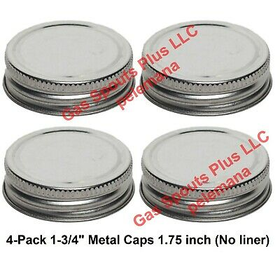 4-pack 1-34 Steel Cap Replacement Gallon Oil Can Gas Eagle 1.75 Inch Metal Lid
