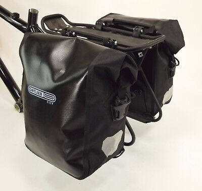 Ortlieb Front-Roller City Front Pannier, Pair, Black