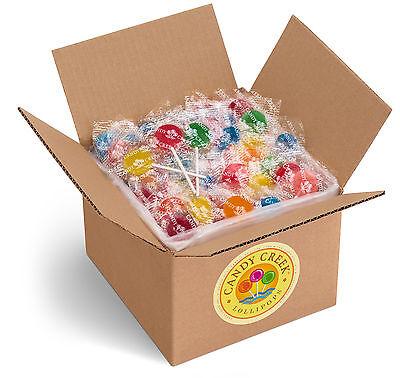 Candy Creek Fruit Lollipops  Bulk Suckers 5Lb  10 Fruit Flavors  About 300