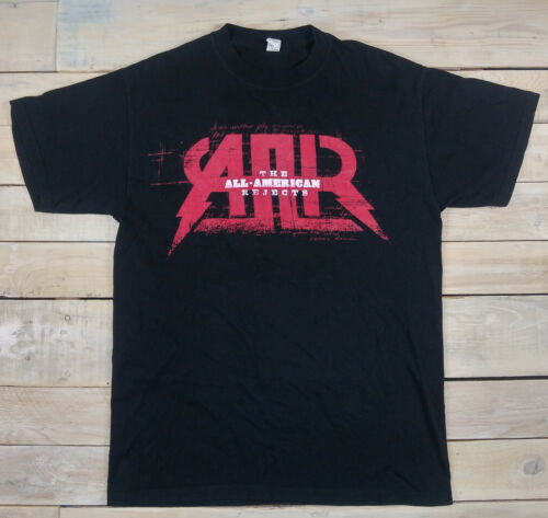 ALL AMERICAN REJECTS AMR I Wanna Rock 2009 Tour Graphic Black T-Shirt Size M