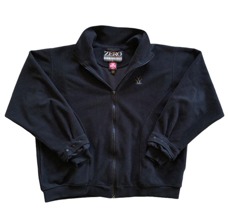 Zero Restriction Women's Large Golf Jacket Windstopper Outerwear Black Fleece
