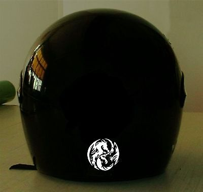 Double Dragon Series - DOUBLE DRAGON  MOTORCYCLE HELMET REFLECTIVE DECAL.2 FOR 1 PRICE