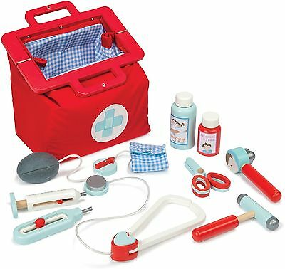 Le Toy Van HONEYBAKE DOCTOR'S SET Wooden Medical Role Play Children/Kids BN