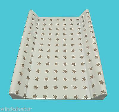 ASMi Wickelauflage 2-Keil Sterne Taupe 70x50 cm Wickeltisch Ökotex  Auflage