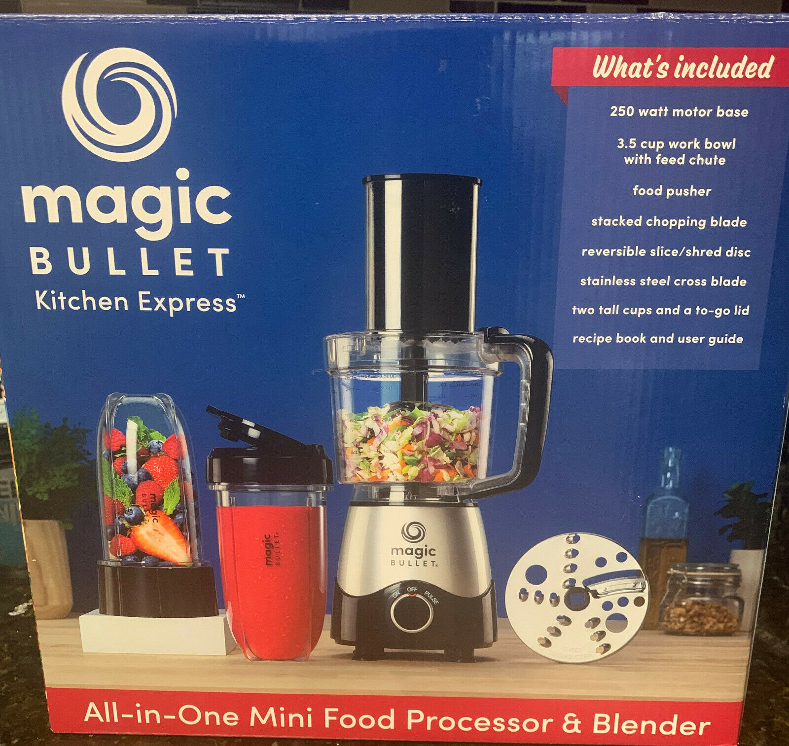 New Magic Bullet Kitchen Express All-in-One Mini Food Processor