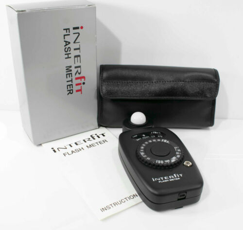 INTERFIT STUDIO FLASH METER W/BOX Manual & Case