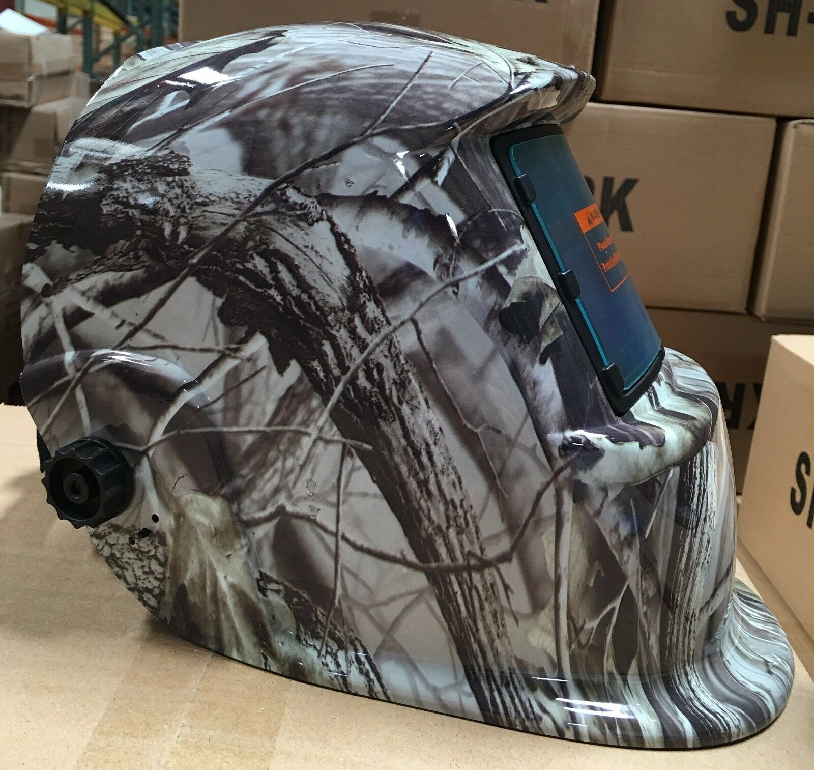 KRK Solar Auto Darkening Welding Helmet Arc Tig Mig Mask Gri