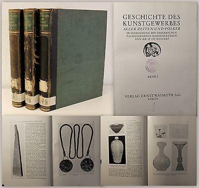 Bossert Geschichte des Kunstgewerbes aller Zeiten und Völker 1928/30 3 Bände xz