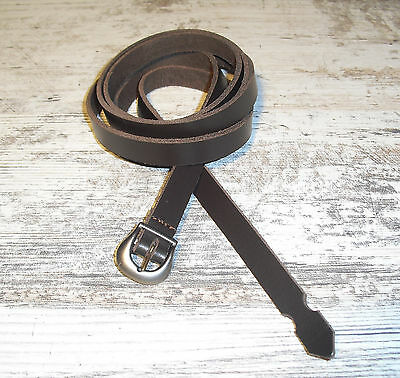 LANGGÜRTEL LEDER MITTELALTER-GÜRTEL WIKINGER KELTEN GERMANEN LARP BRAUN 1,5 cm
