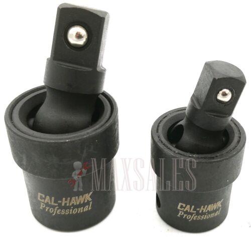 "2pc Universal Impact Joint Set 3/8"" & 1/2"" DR. CR-MO Ball Type Swivel Socket"