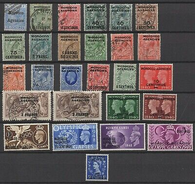 Morocco Agencies Overprints on GB Stamps As Shown  -    Ref:4438