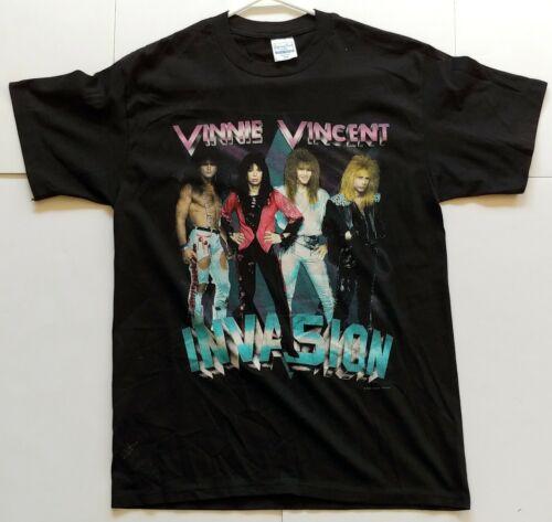 Vintage Kiss VINNIE VINCENT INVASION All Systems Go 1988 Concert T-Shirt UNWORN