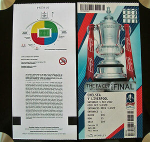 2012 F.A. Cup Final Ticket Chelsea v Liverpool in Mint condition