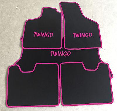 Fußmatten für Renault Twingo I 1993-2007 Autoteppich Schwarz 4-tlg.