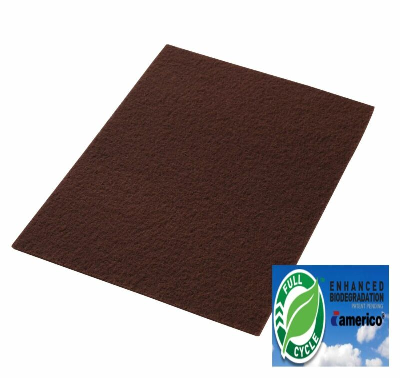 """14"""" x 20"""" Maroon EcoPrep """"EPP"""" Floor Stripping Pads Box of 10, Chemical Free"""