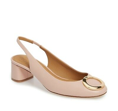 NIB Tory Burch Caterina Slingback Pump 45MM Sea Shell Pink Size 9 $278