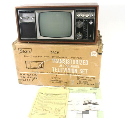 1960s Sears Transistorized Clock Radio & Television Receiver