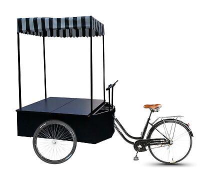 Tricyle Vending Cart Ice-cream Wagon Flower Cart Kiosk Farmers Market Booth