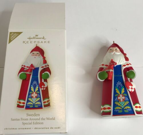 Hallmark Keepsake Ornament Santas from Around the World - Sweden