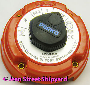 perko switch boat parts marine 4 position duel battery selector switch isolator disconnect perko 8501dp