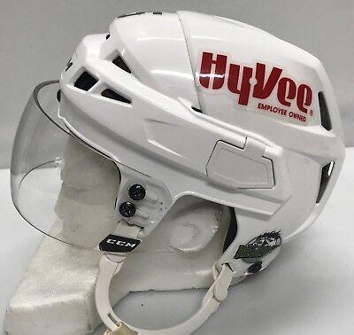 3fce0491a82 CCM V08 Pro Stock Hockey Helmet Small White CCM Visor AHL12307