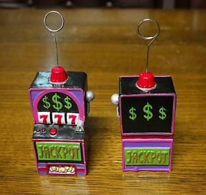2 x Balloon weights/ photo holders - Poker machine Warilla Shellharbour Area Preview