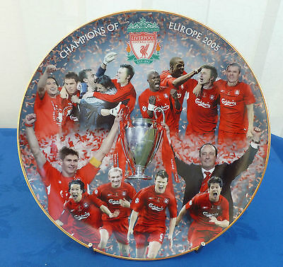 "DANBURY MINT LIVERPOOL FOOTBALL CLUB ""CHAMPIONS OF EUROPE 2005""  8"" PLATE"