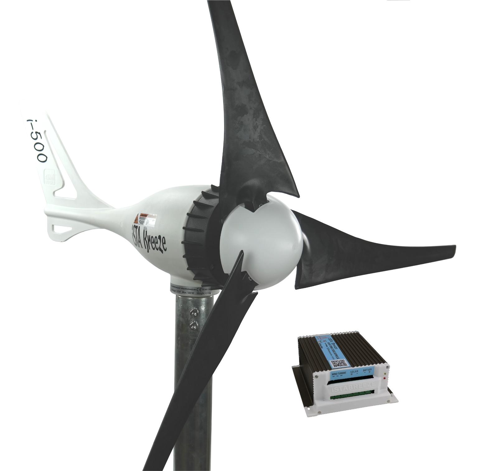 BLACK EDITION SET 24V//i-500Plus WINDGENERATOR iSTA-BREEZE® HYBRID LADEREGLER