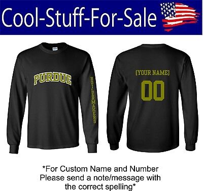 Purdue Boilermakers Basketball Long Sleeve Shirt With Custom Name