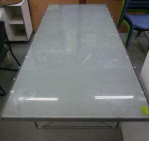 Tempered Glass Large Metal Meeting Conference Dining Table Melbourne CBD Melbourne City Preview