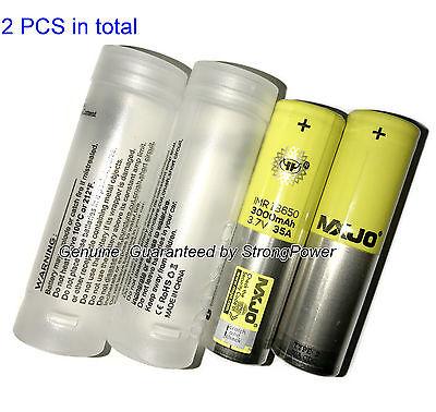 2PCS 100% Authentic MXJO 18650 Flat Top Battery/ 3000mAh 35A 3.7V/Free Case/2017