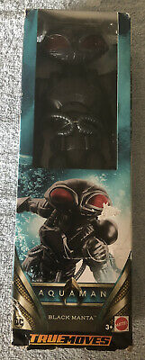 "Mattel DC True-Moves Series Aquaman Black Manta Figure 12"" New"