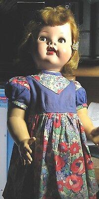 """VTG.1950's IDEAL SAUCY WALKER 22"""" Doll. Needs a little TLC.  Must C!"""