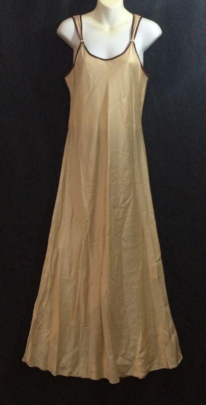 WinterSilks Golden Nightgown Silk XL Vintage
