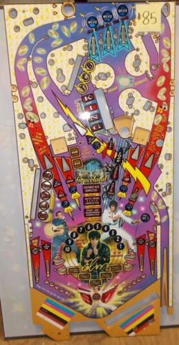 STERN - ELVIS PINBALL  GAME PLAYFIELD - PRODUCTION REJECT -  #133  AS IS