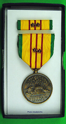 Original Vietnam War GI Issue Service Medal set 2 Bronze Campaign Stars ML