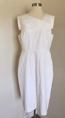 Dresses Promotion (JCrew $148 Promotion Dress Sz 12 White F0759 Office)