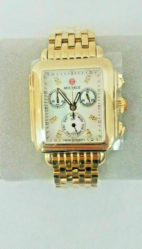 Michele Deco Day Diamond Gold-tone Ladies Watch (MWW06P000016)