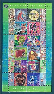 AUSTRALIA 1998 ROCK N ROLL SHEETLET OF 12 FINE USED.