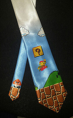 L@@K! Super Mario Bros Original fan art Neck tie - 8 Bit Mario