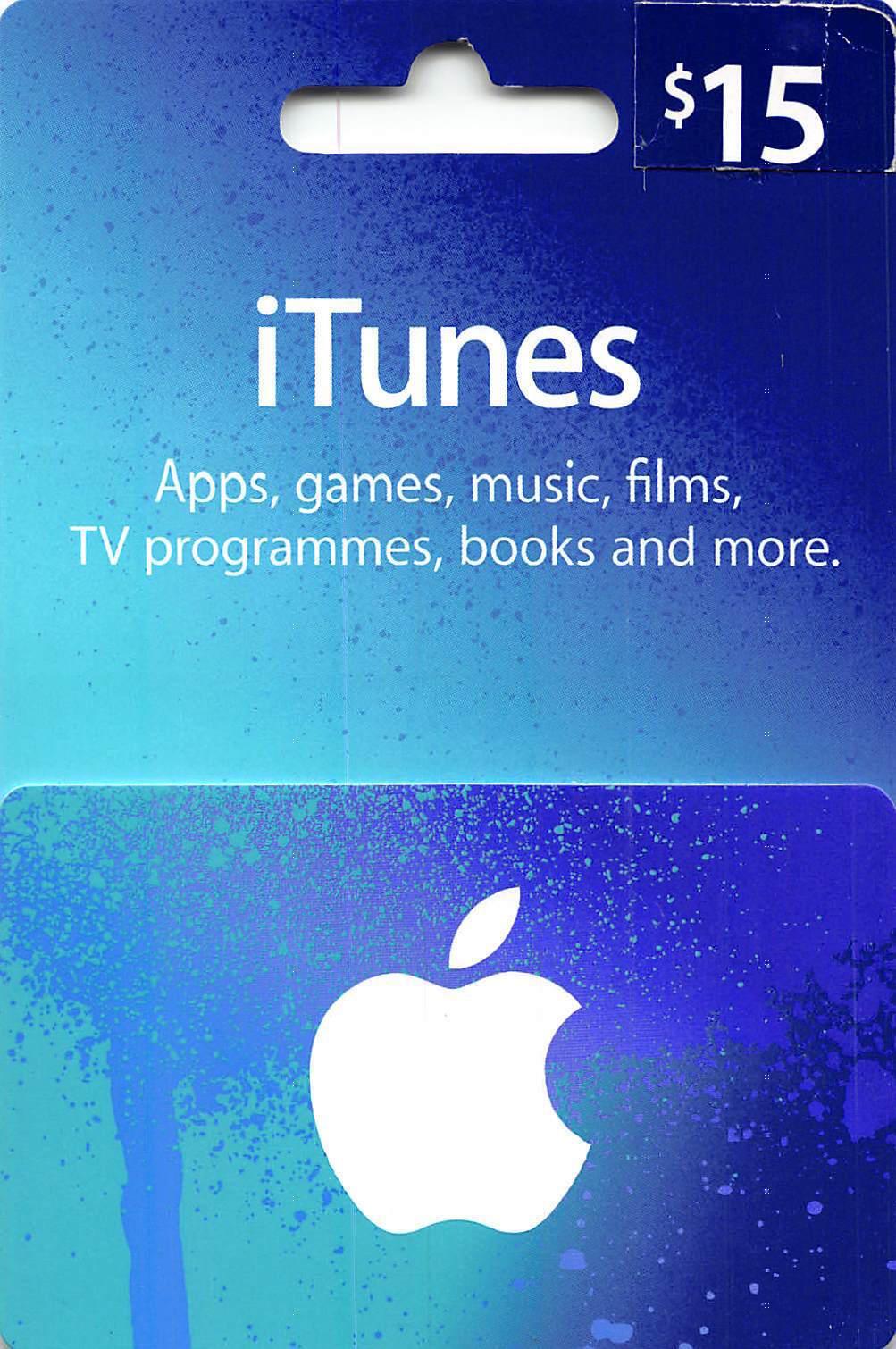 $15 US Apple iTunes Gift Card Certificate Voucher | American USA iTunes Code